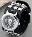 Magnificent watch Gothic skull and crossbones