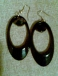 Mod black earrings