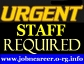 Urgent Staff Required, Part Time/Full Time.