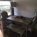 Farmhouse dining table set -grey and natural